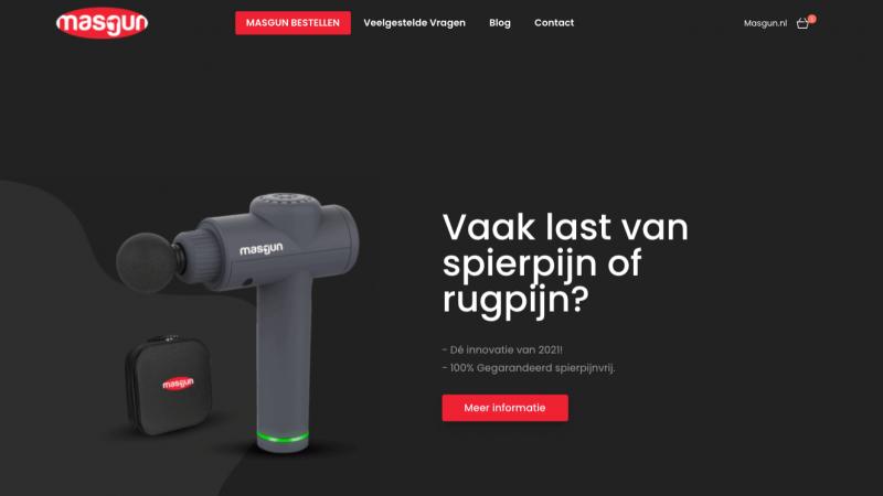 Masgun.nl homepage banner